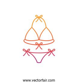 silhouette of woman swimsuit on white background