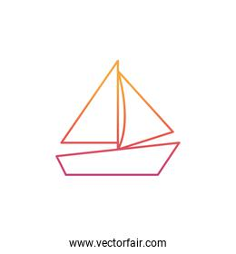 silhouette of sailboat on white background