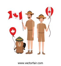 Beaver animal and ranger of canada design