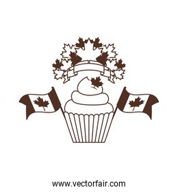 Isolated cupcake of canada design vector illustration