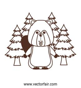 Isolated beaver animal design vector illustration
