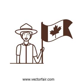 Isolated canada forest ranger design vector illustration