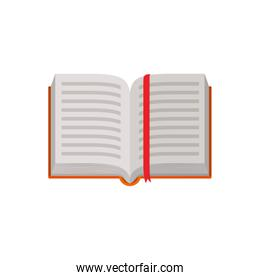 Isolated open book design vector illustration