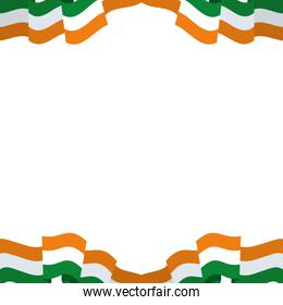 pattern of flag indian isolated icon
