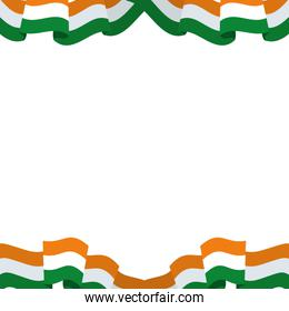 pattern of flag indian isolated icon vector illustrator