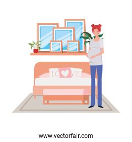 Isolated pregnant woman design vector illustration