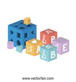Isolated baby toy design vector illustration