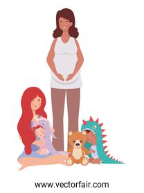 interracial pregnancy mothers with little babies