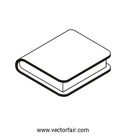 silhouette of book of school with white background