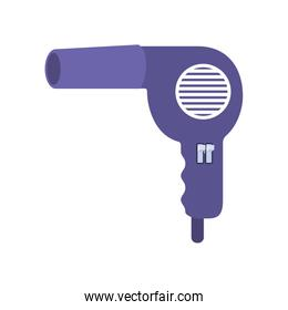 professional hair dryer on white background
