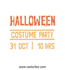 happy halloween party invitation font message
