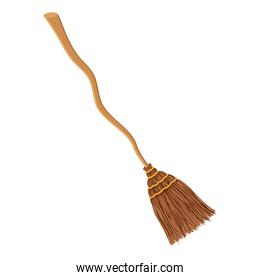 witch broom accessory isolated icon