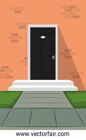 door house front isolated icon