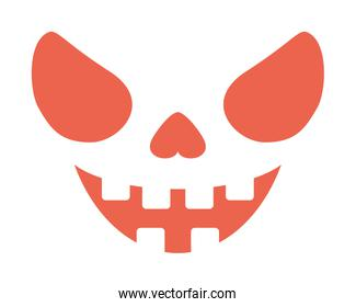 scary halloween face isolated icon