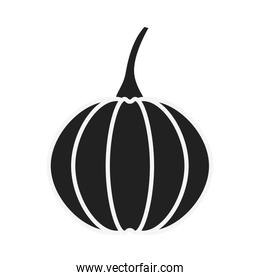 pumpkin vegetable with stem icon