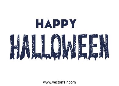 happy halloween poster with calligraphy message