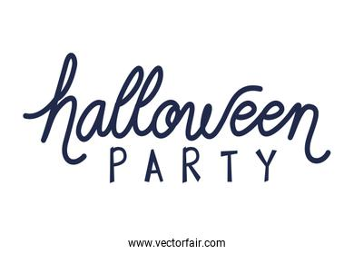 halloween party celebration calligraphy message