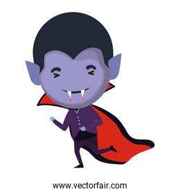 cute little boy with dracula costume