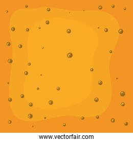beer color and bubbles background