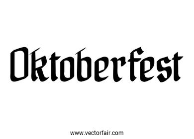 oktoberfest lettering calligraphy font icon
