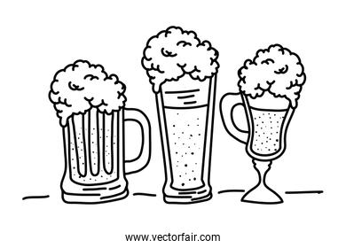 beers containers oktoberfest celebration design