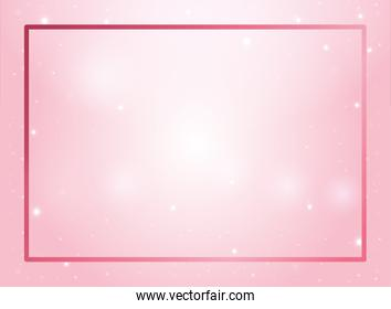 pink frame color background icon