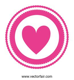 circle seal with heart love campaign