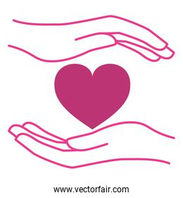 hands with heart love campaign