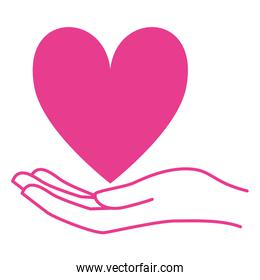 hand with heart love campaign