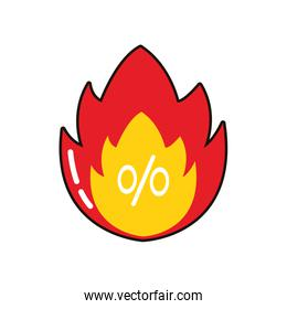commercial flame seal with percent symbol