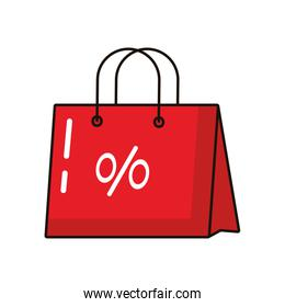 shopping bag paper with percent symbol