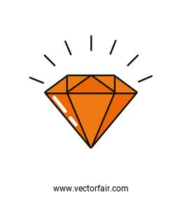 diamond luxury rock isolated icon