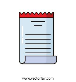 receipt paper document isolated icon