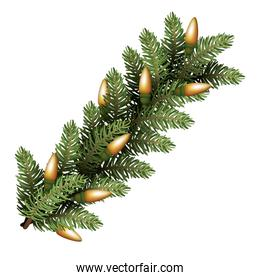 happy merry christmas tree branch decoration