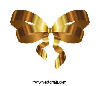 golden bow ribbon decorative icon