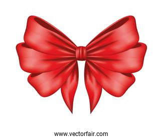 red bow ribbon decorative icon