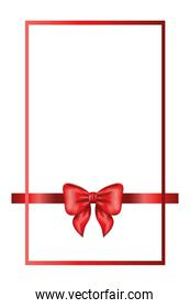 red bow ribbon frame decorative icon
