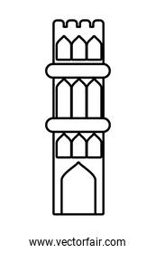 manger house building isolated icon