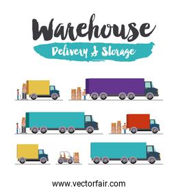 delivery and storage warehouse design