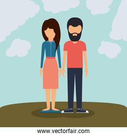 young couple design