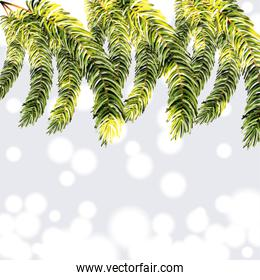 Christmas background with garland design