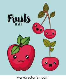 fruit character isolated icon design