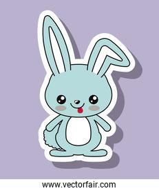 rabbit character kawaii style isolated icon design