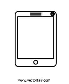 tablet computer isolated icon design