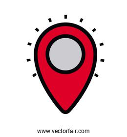 pin location isolated icon design