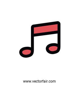 music note isolated icon design