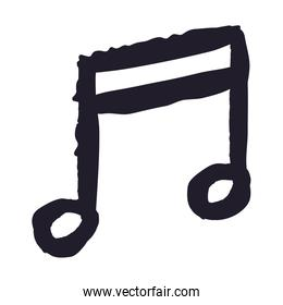 music note drawing isolated icon design