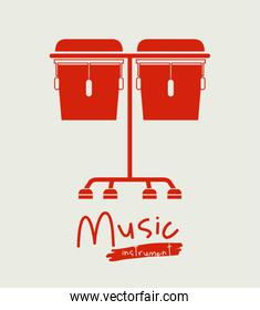 timbal instrument  isolated icon design