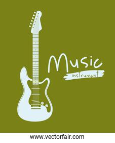 guitar electric isolated icon design