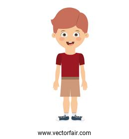 boy standing in front isolated icon design